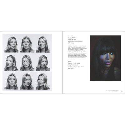 Spread of 100 Fashion Icons Kate Moss Naomi Campbell