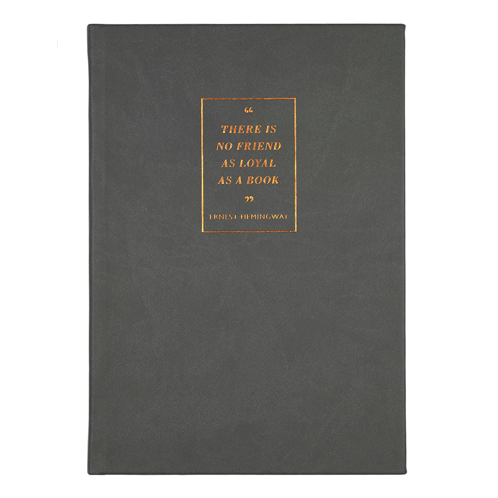 A6 Grey Quote Notebook British Library