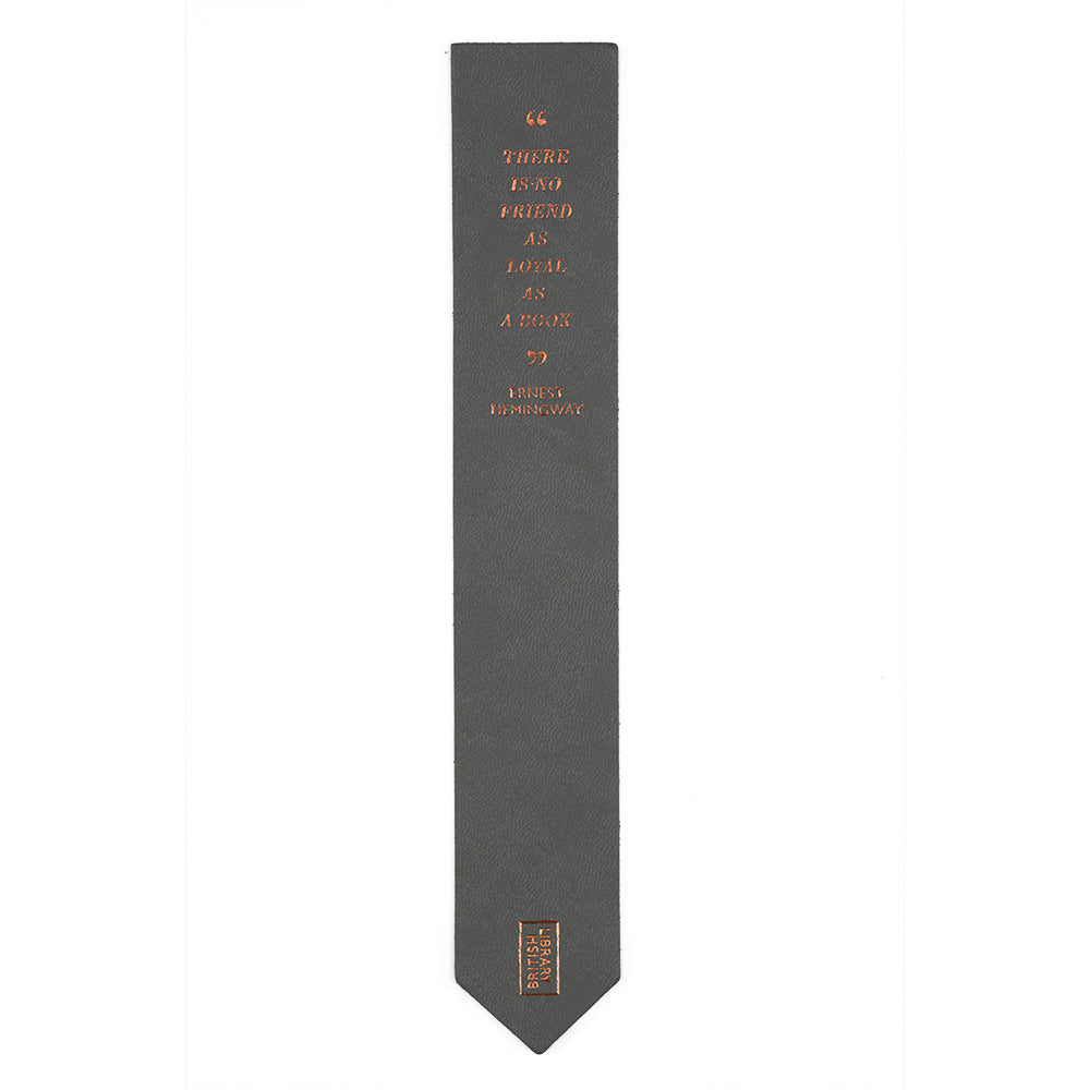 Grey Quote Bookmark British Library
