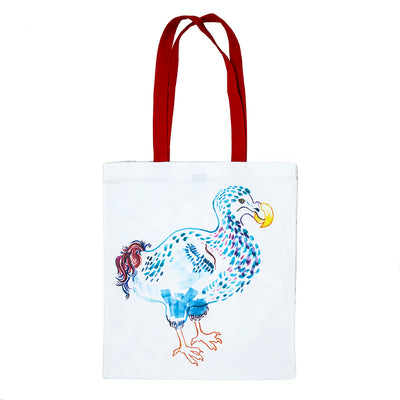 Alice In Wonderland Tote Bag Back with Dodo illustration