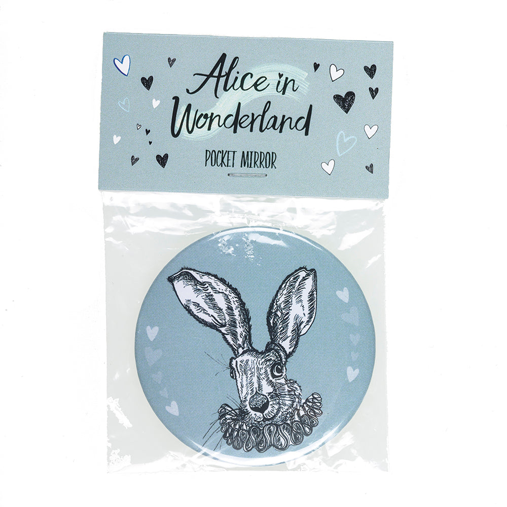 White Rabbit Pocket Mirror in Packaging