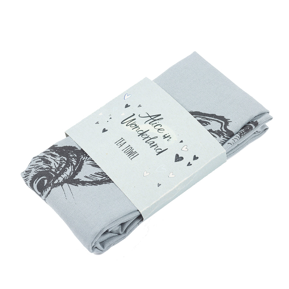 Alice in Wonderland Rabbit Tea Towel in Packaging British Library