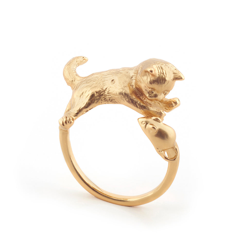 Kitten/Mouse Ring