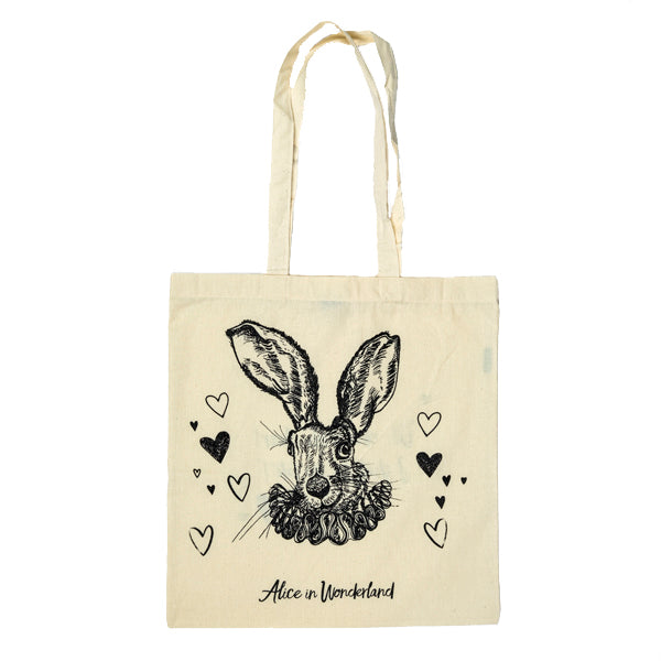 White Rabbit Tote Bag Front