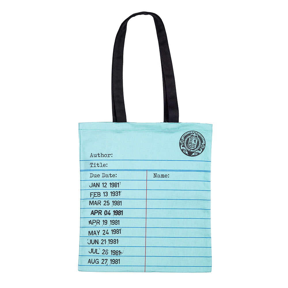 Library Card Tote Bag Mint British Library