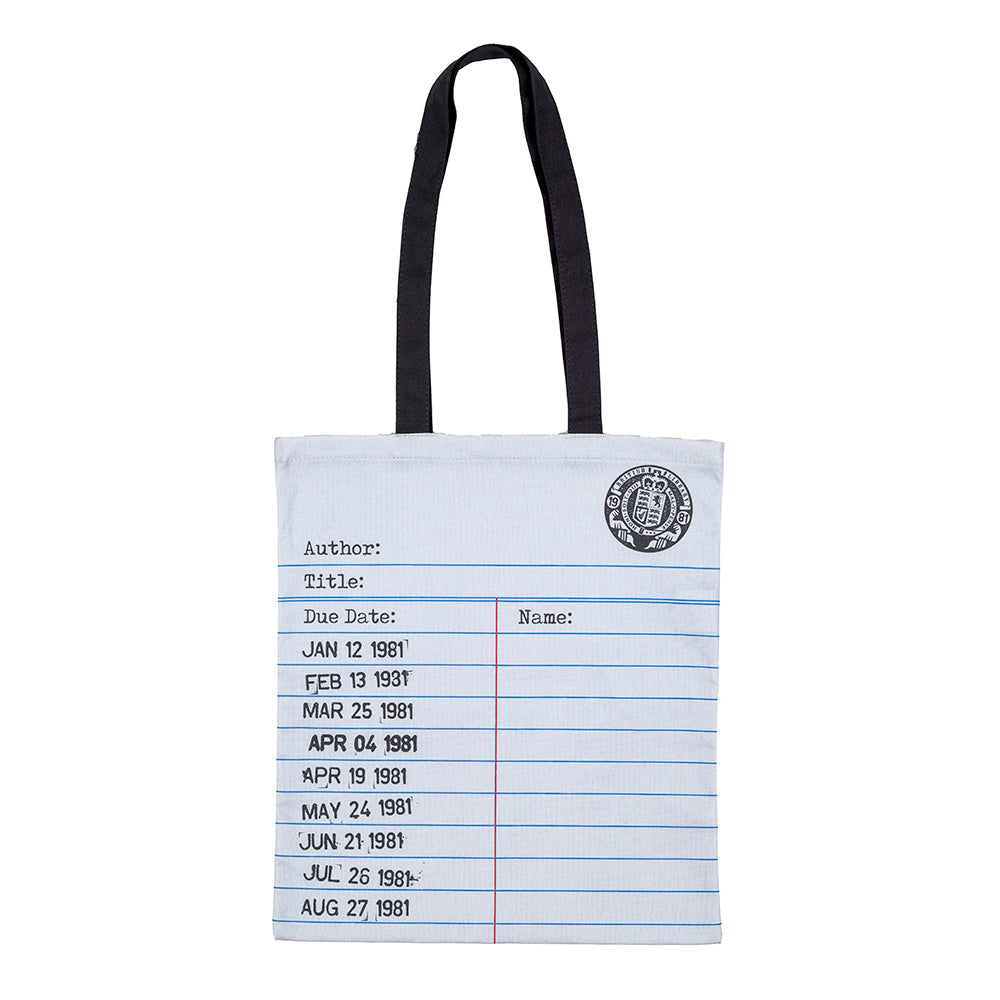 Library Card Tote Bag Grey British Library