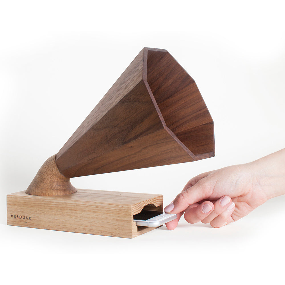 Resound No. 1 Walnut and Oak Amplifier with phone example
