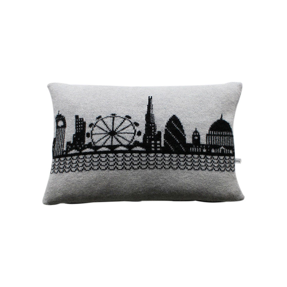 Knitted London Skyline Cushion Full Size