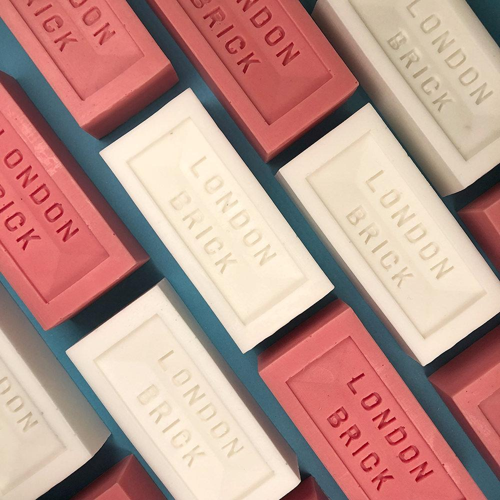 Lime Clay London Brick Shaped Soap Group Shot
