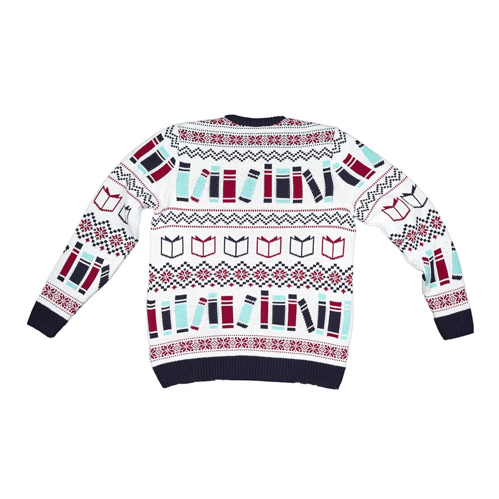 Literary Christmas Jumper Back