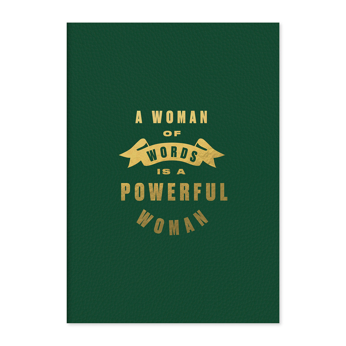A Woman Of Words Leather Notebook