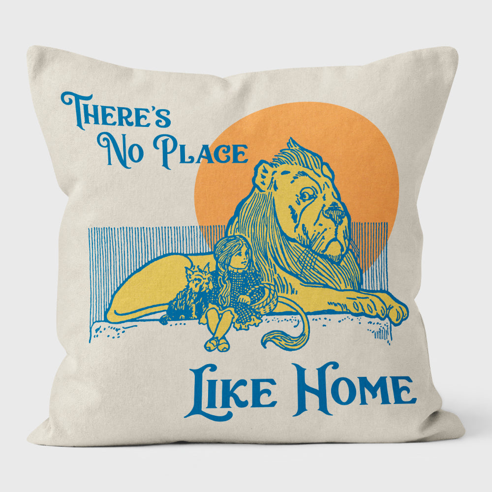 No Place Like Home Luxurious faux suede, fibre filled cushion with removable cover