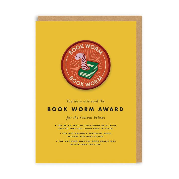 Book Worm Patch Card