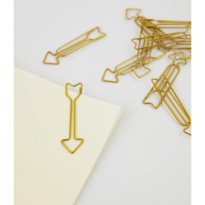 Brass Arrow Clips Set of 16 in use