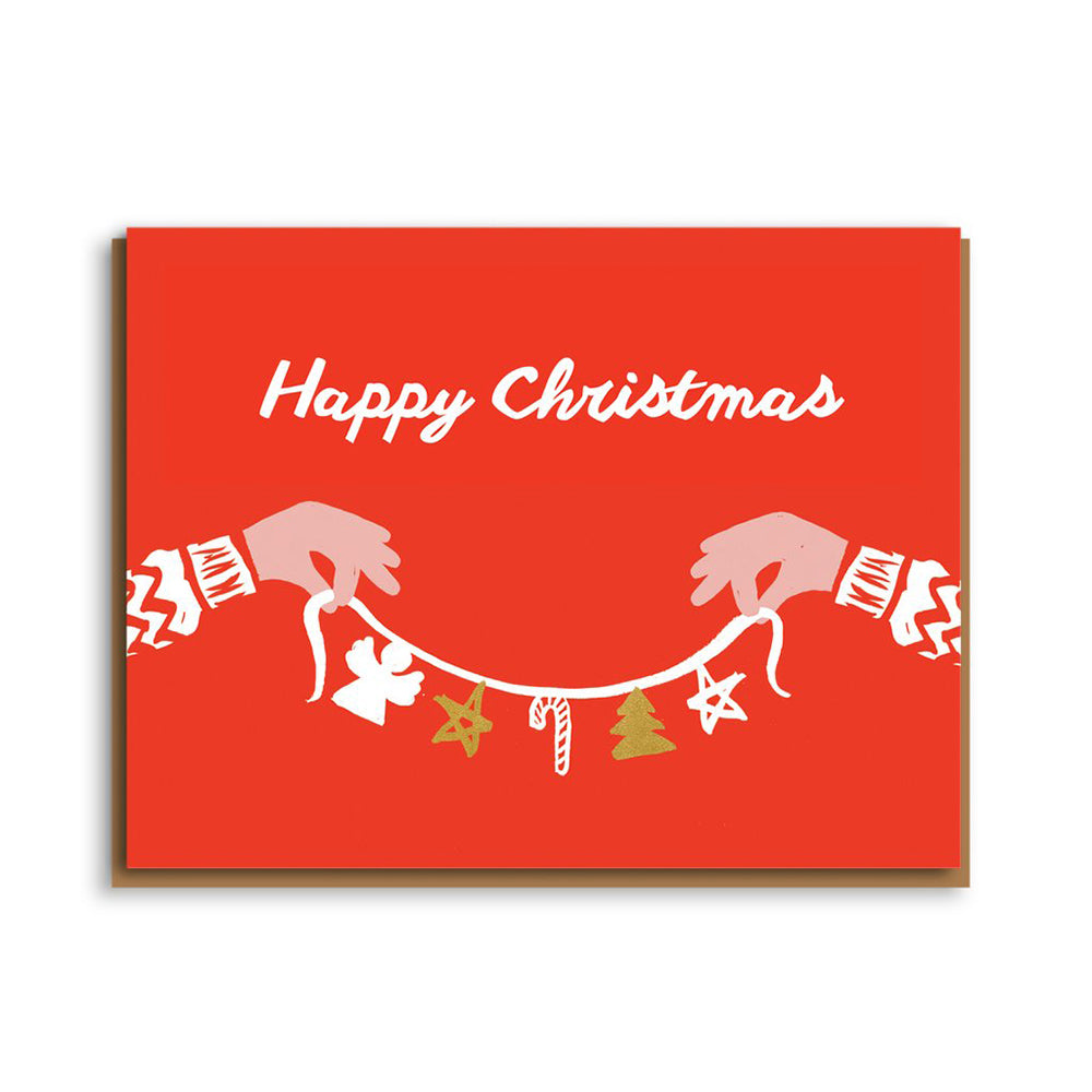 Happy Christmas Garland Card