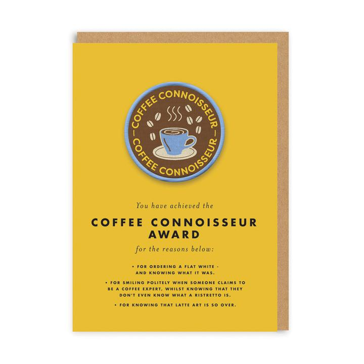 Coffee Connoisseur Patch Card