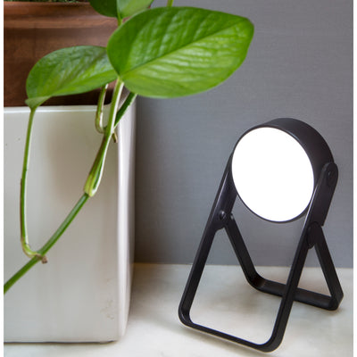 Lifestyle shot of Foldable Spot Light with plant