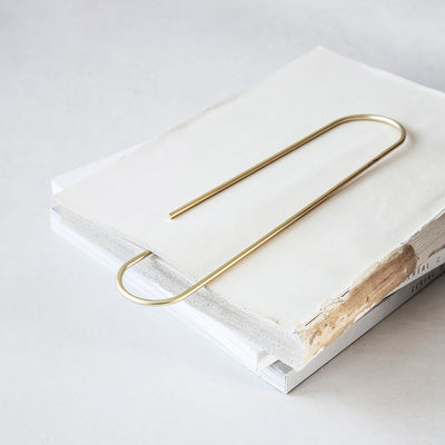 Mega Paper Clip Brass in Use