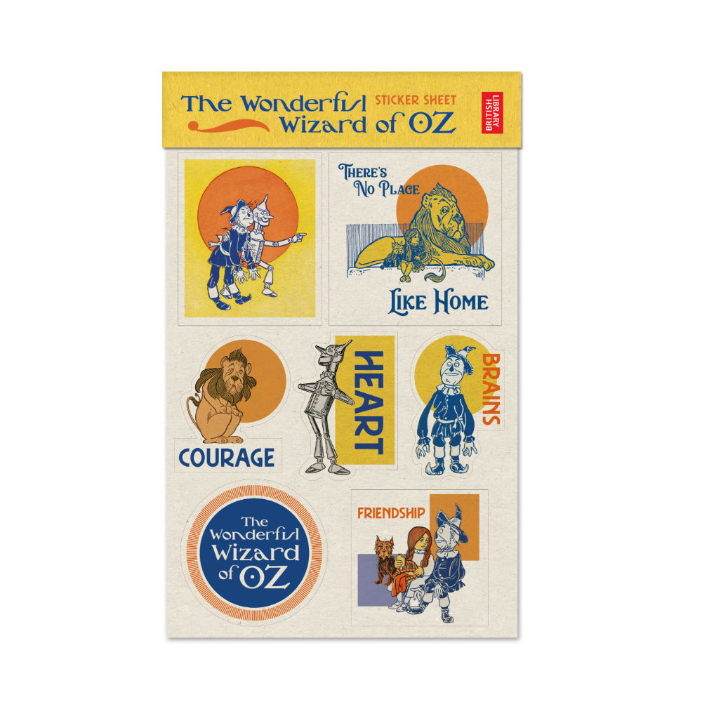 A 2 sheet sticker set, featuring the best loved characters from the original facsimile of The Wonderful Wizard of Oz with illustrations by W. W. Denslow from 1900.