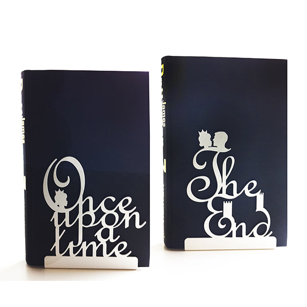 Once Upon A Time Fairy Tale Bookends Off-white