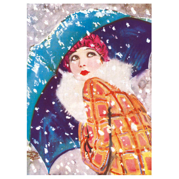 Snow Flurry Christmas Cards 8 Pack