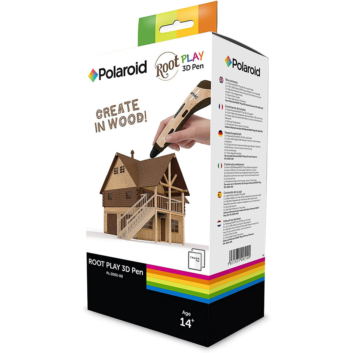 Image of Polaroid ROOT Play 3D Pen in packaging