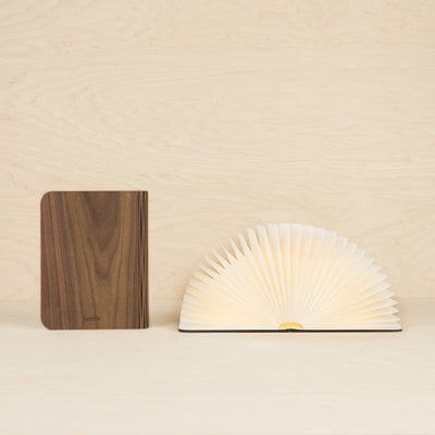 Walnut Lumio Lamp Open and Closed