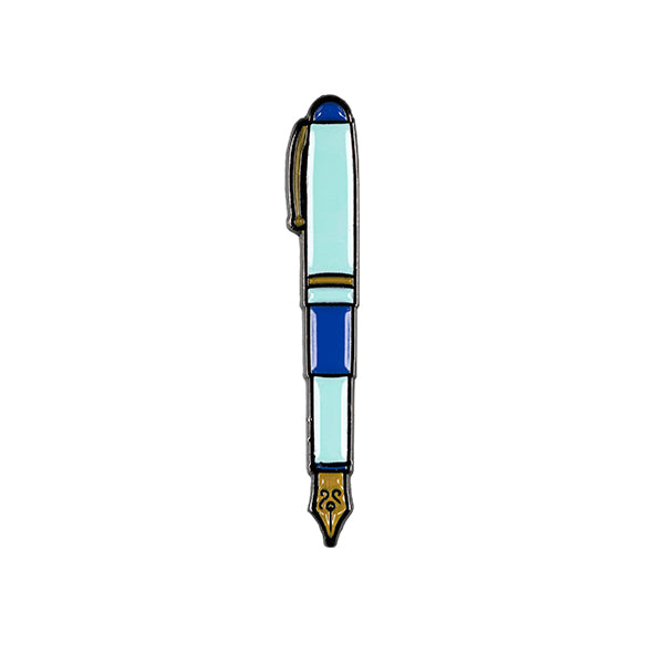 Fountain Pen Enamel Pin 25mm