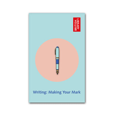 Fountain Pen Enamel Pin 25mm on Backing Card