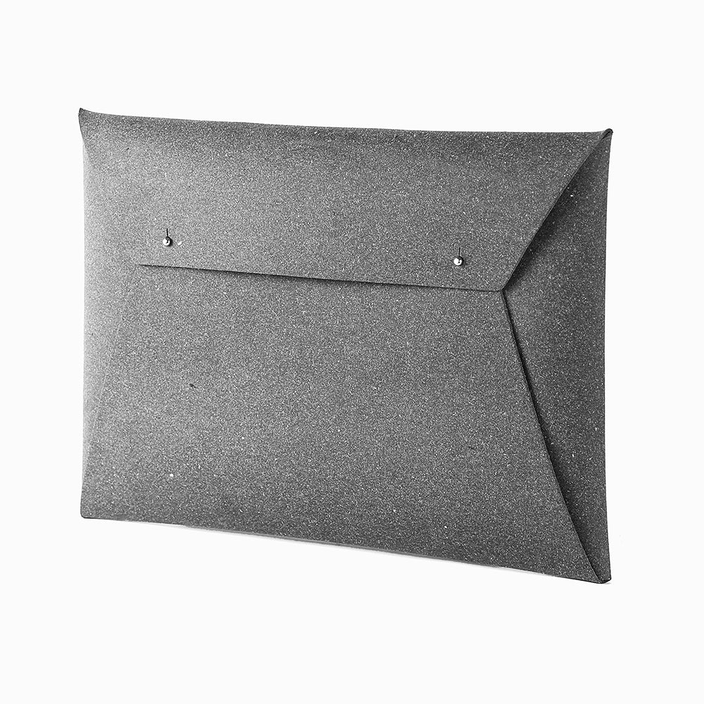 Grey Document Organiser leather A4