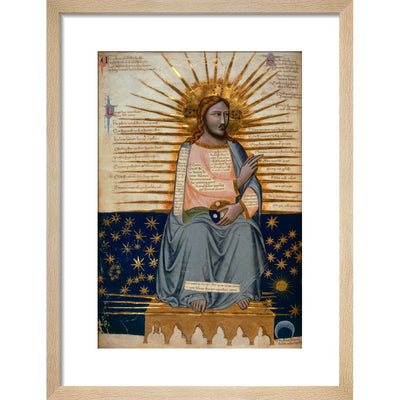 Christ in Heaven print in natural frame