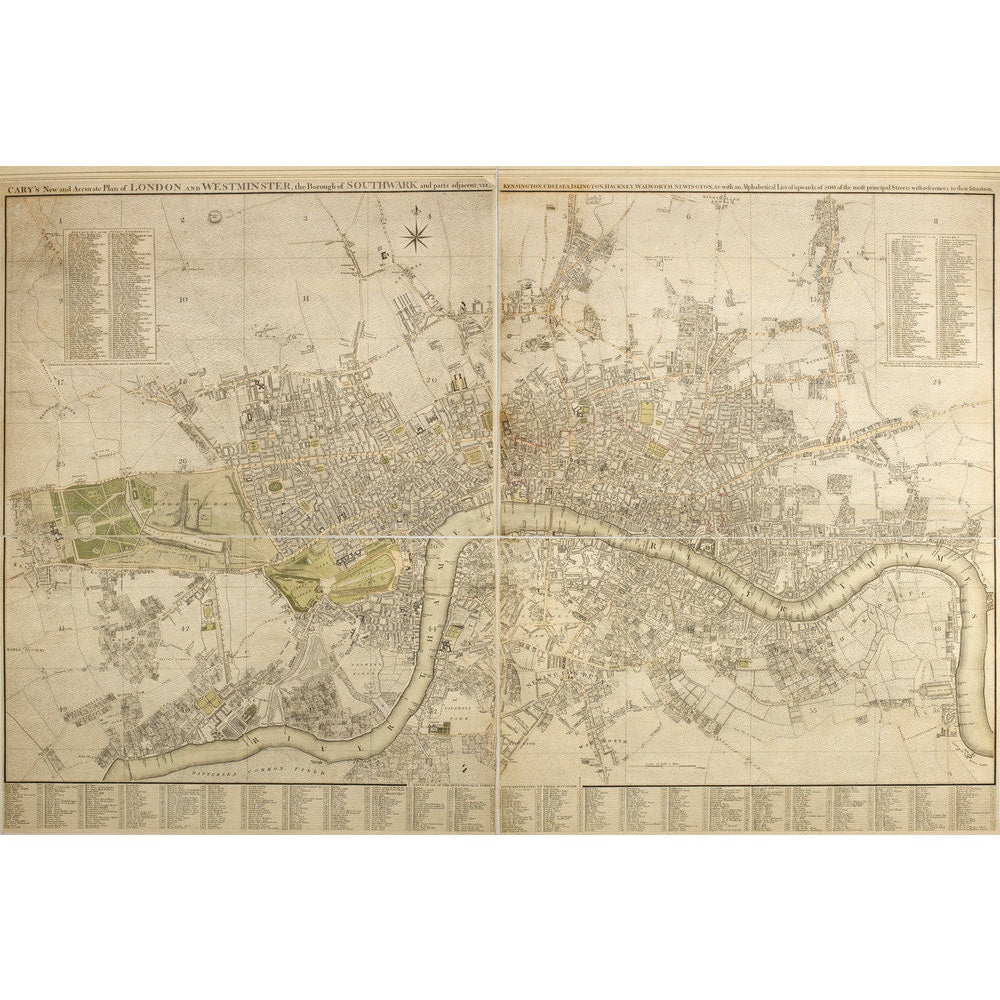 Cary Map of London and Westminster print