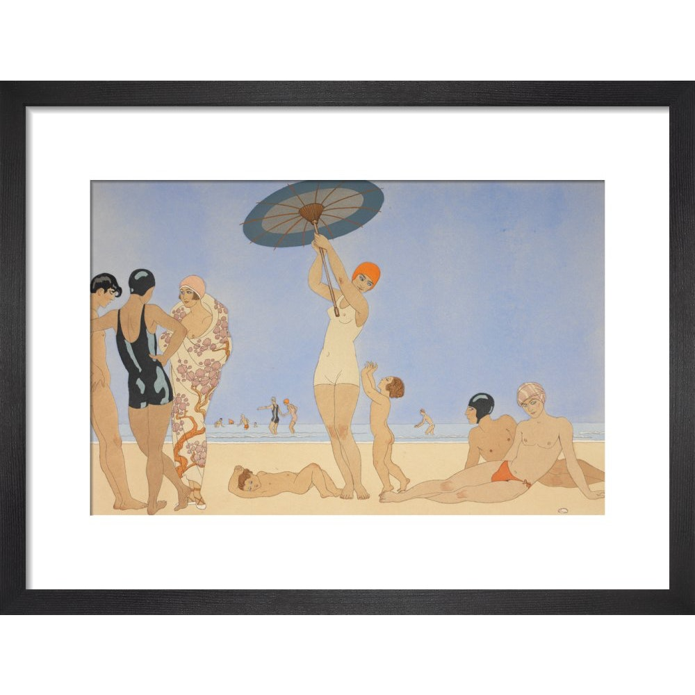 Au Lido print in black frame