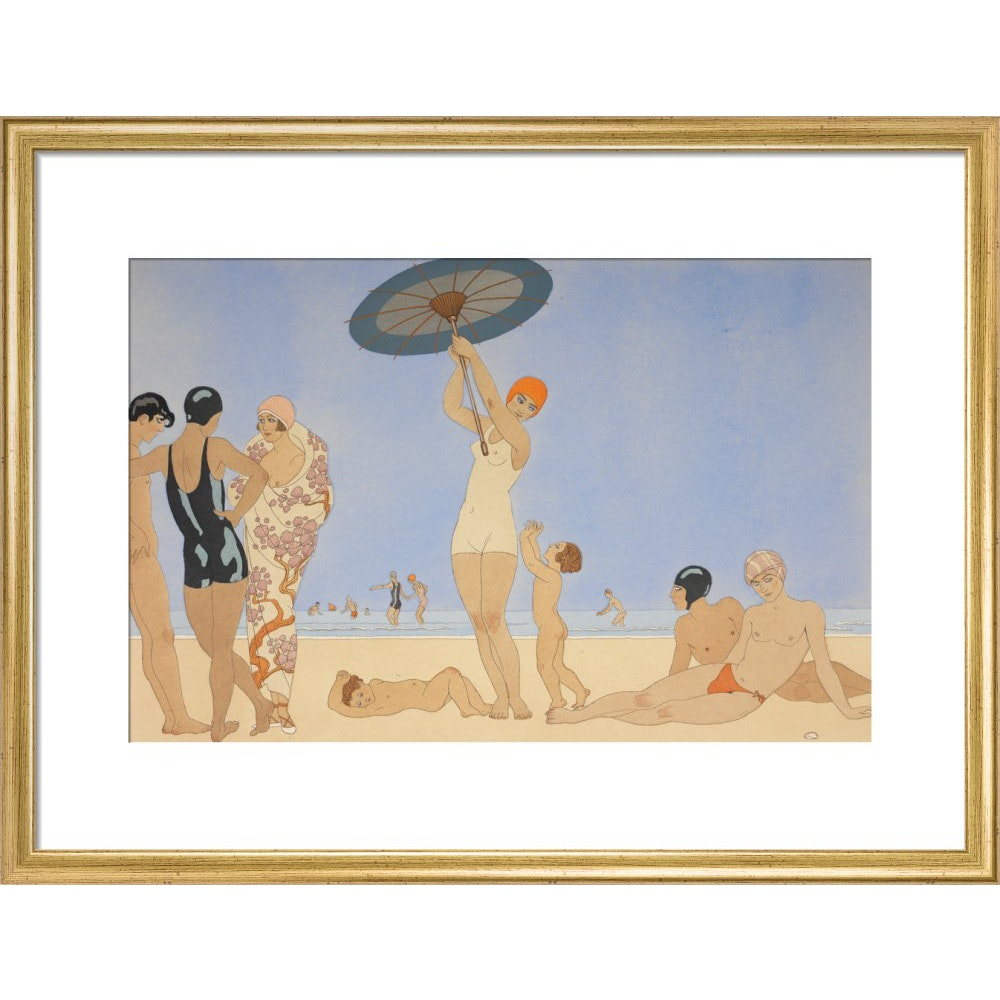 Au Lido print in gold frame