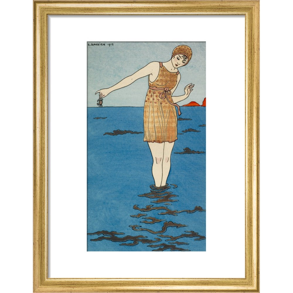 Costume de Bain print in gold frame