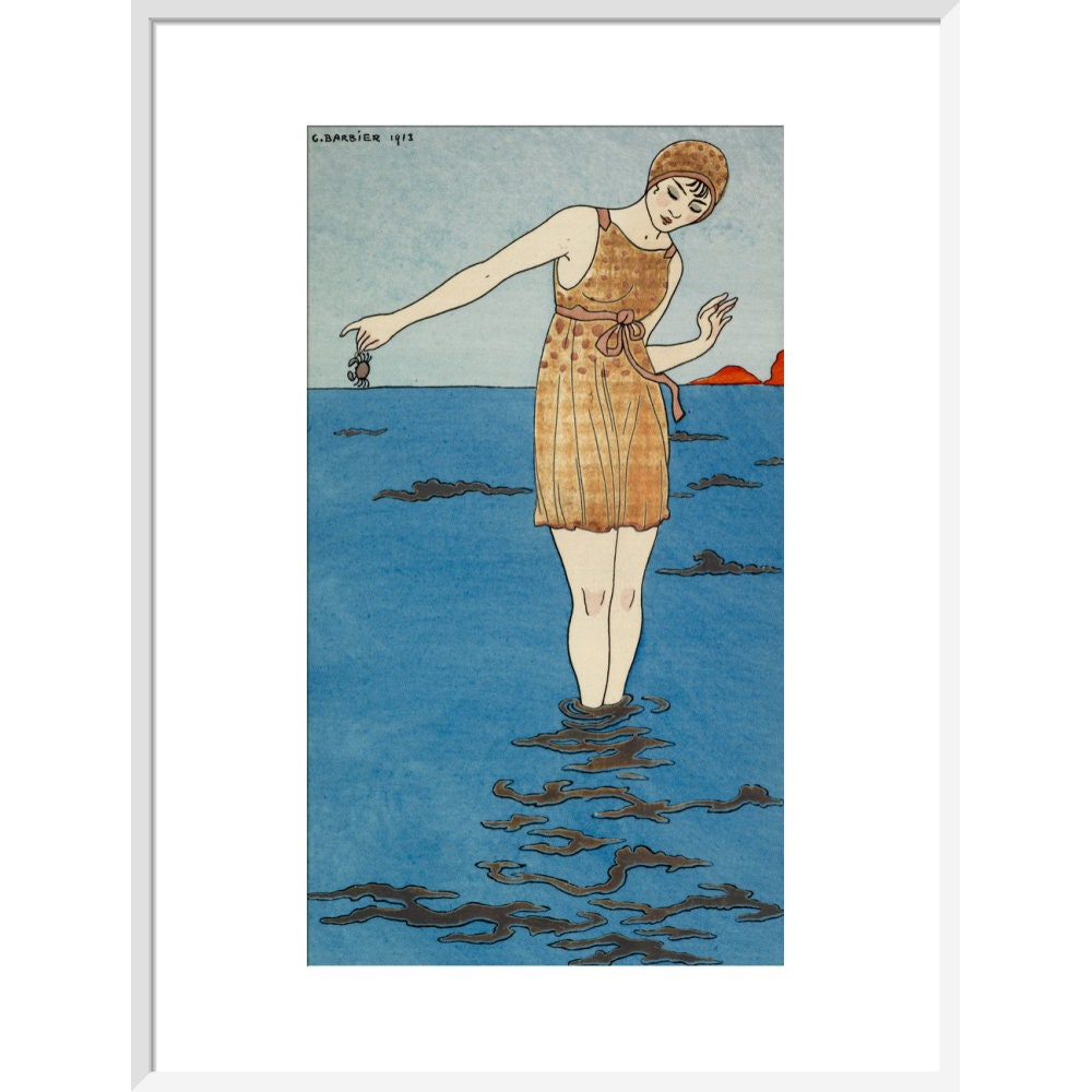 Costume de Bain print in white frame