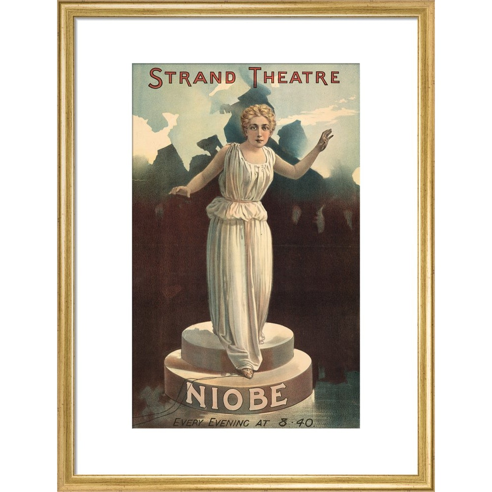 Strand Theatre print in gold frame