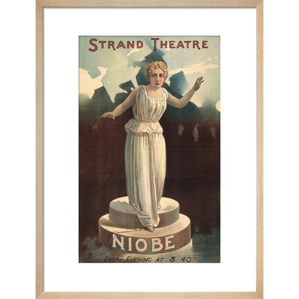 Strand Theatre print in natural frame