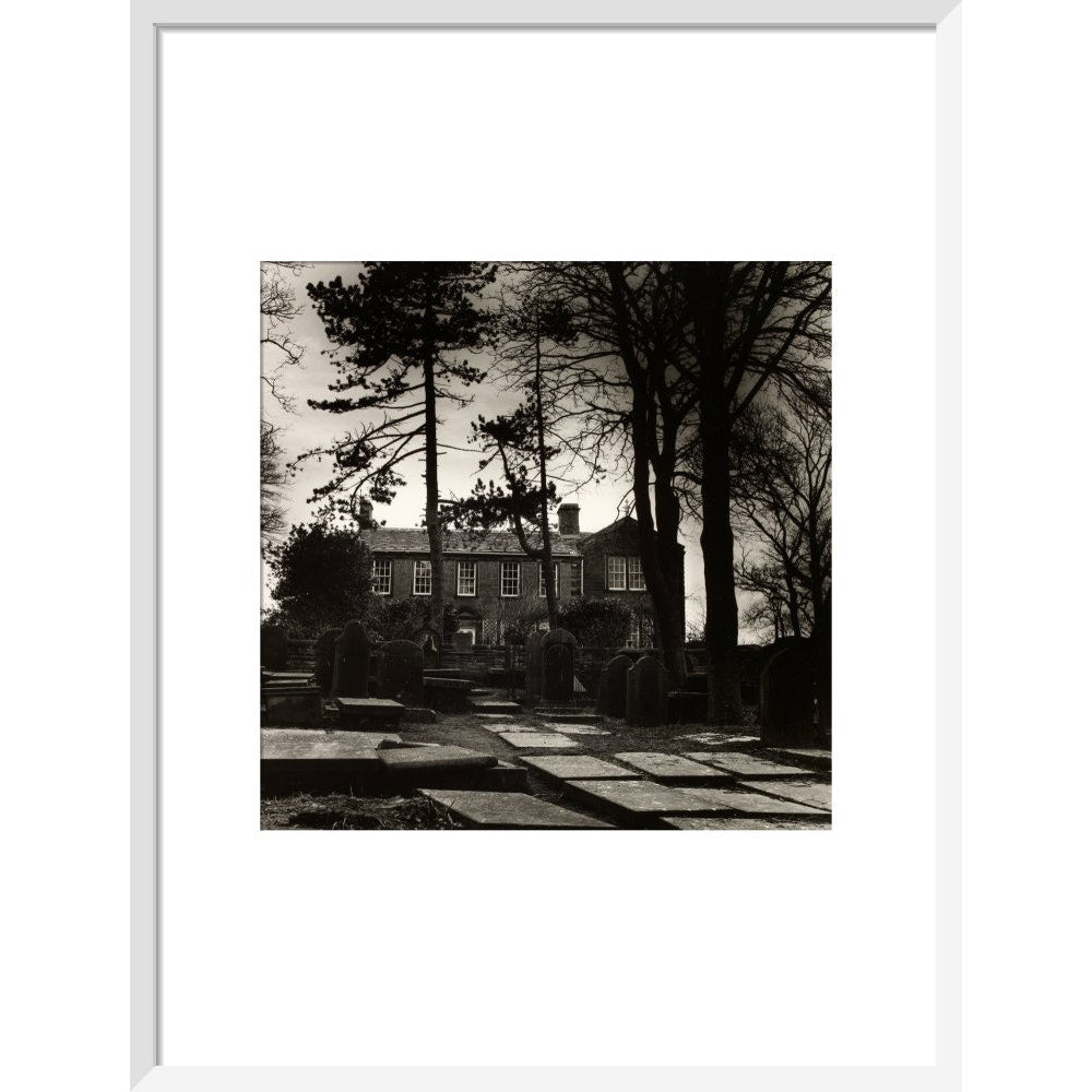 Howarth Parsonage print in white frame