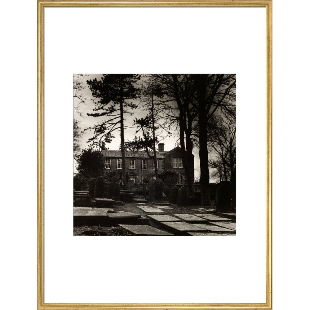 Howarth Parsonage print in gold frame