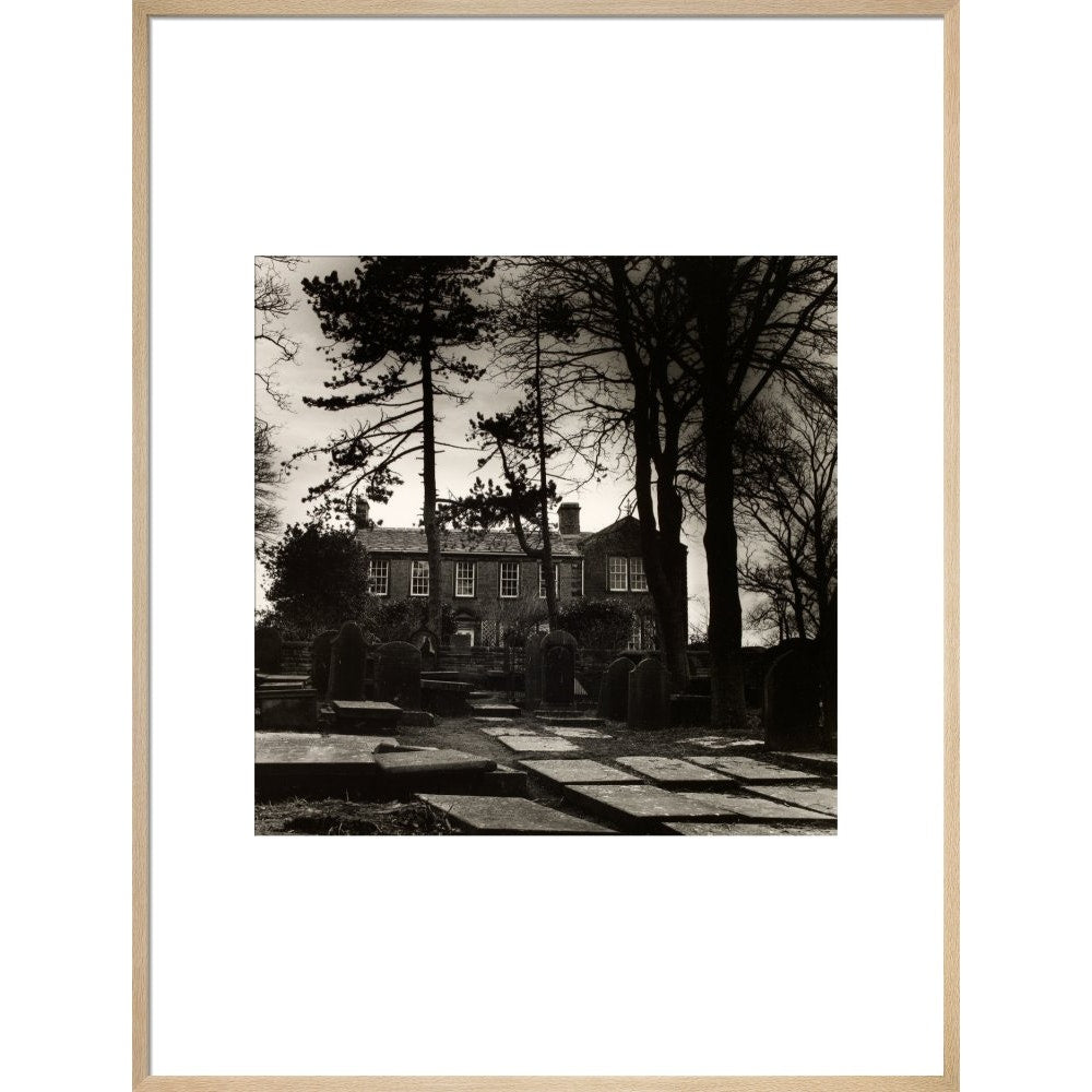 Howarth Parsonage print in natural frame