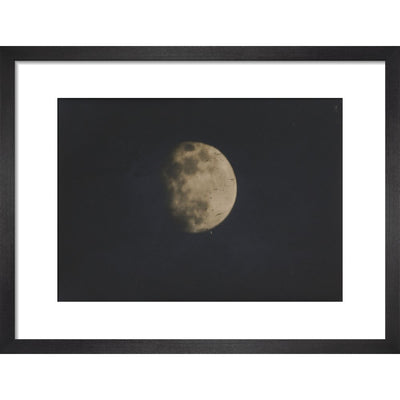 Photograph of the Moon print in black frame