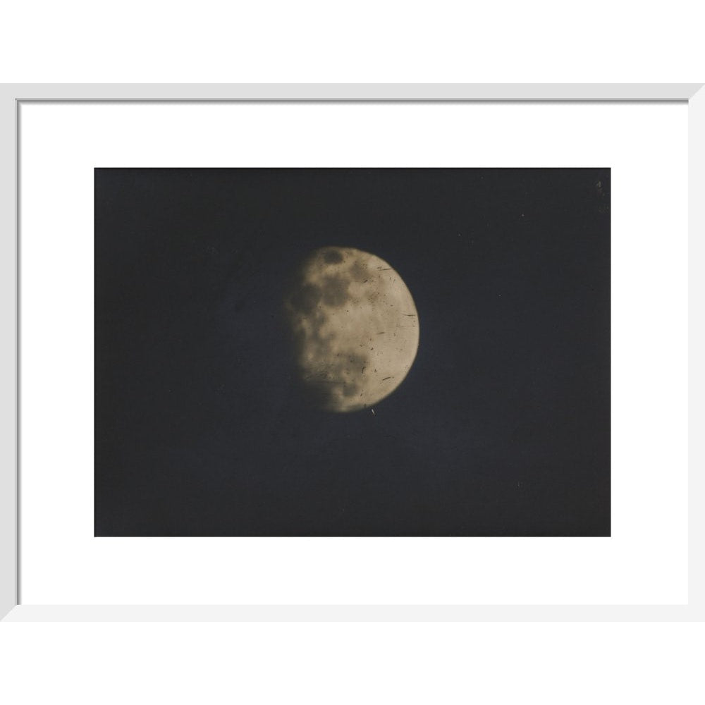 Photograph of the Moon print in white frame