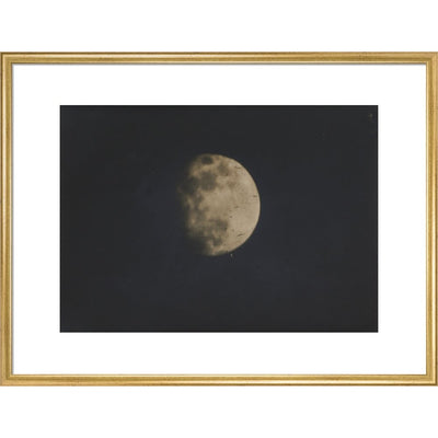 Photograph of the Moon print in gold frame