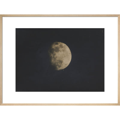 Photograph of the Moon print in natural frame