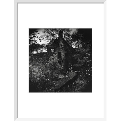 Staups Mill print in white frame