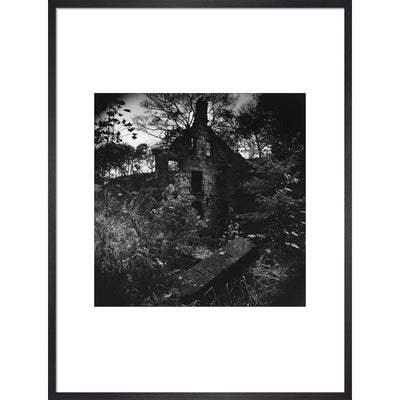 Staups Mill print in black frame