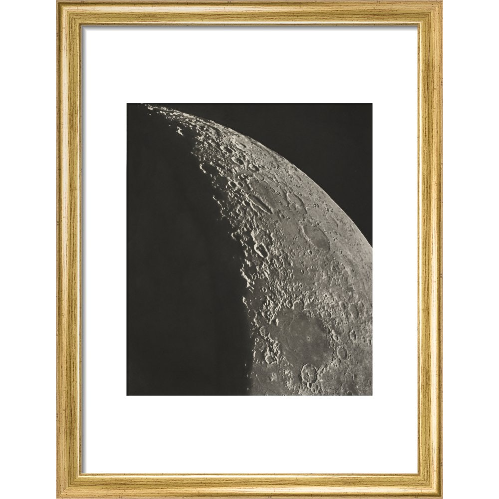 The Moon print in gold frame