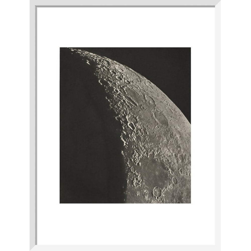 The Moon print in white frame