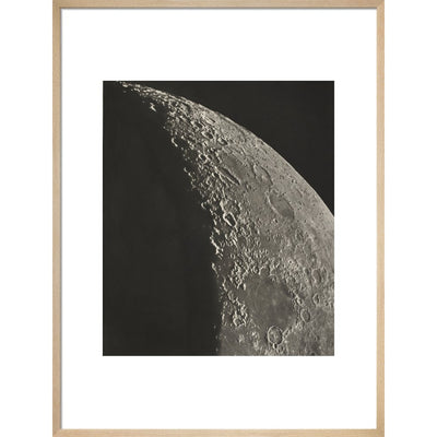 The Moon print in natural frame